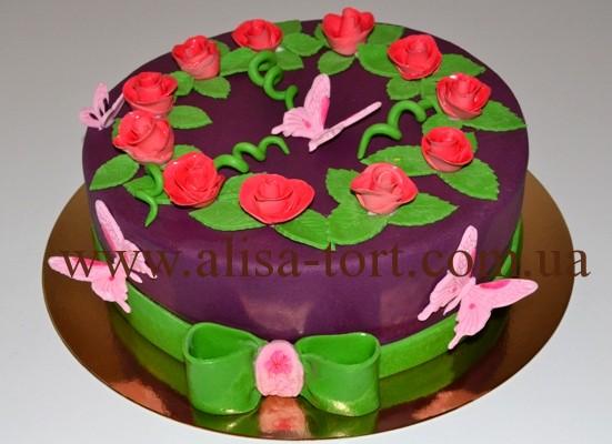 Торт на день рождения для девочки своими руками фото