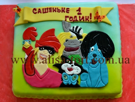 торт бременские музыканты фото